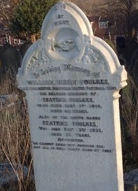 Foulkes' grave at Burngreave Cemetery
