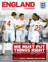 Image result for england hungary programme 2010